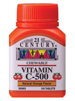 VITAMIN C 500 - 60 Delicious Orange Chewable tablets
