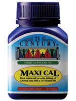 MAXI CAL, Calcium 600mg + Vitamin D 100iu