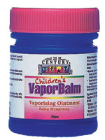 CHILDREN'S VAPOR BALM , Camphor-Free, Safe for Children