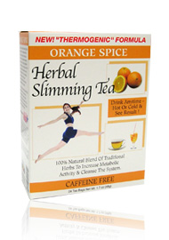 HERBAL SLIMMING TEA, Orange Flavour for rapid weight loss
