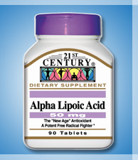 ALPHA LIPOIC ACID, 50mg for Carbohydrate Control