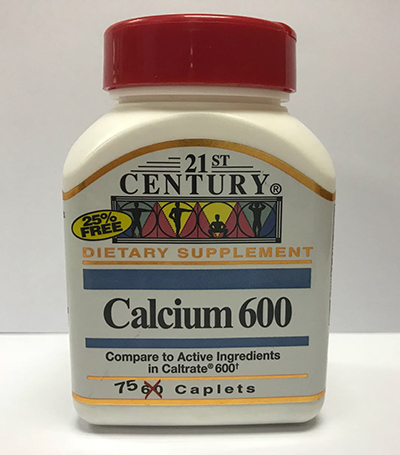 CALCIUM 600, for strong bones and preventing curved backs