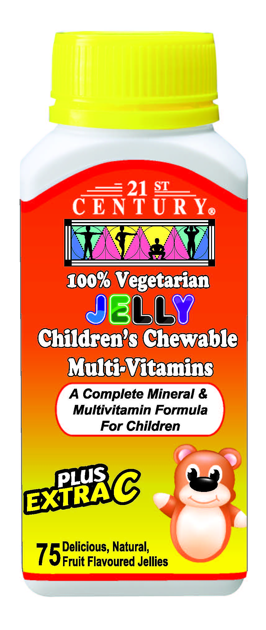 Children's Chewable Multi-Vitamins Vegetarian Jellies