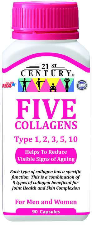 FIVE COLLAGENS, 90 capsules for Complexion