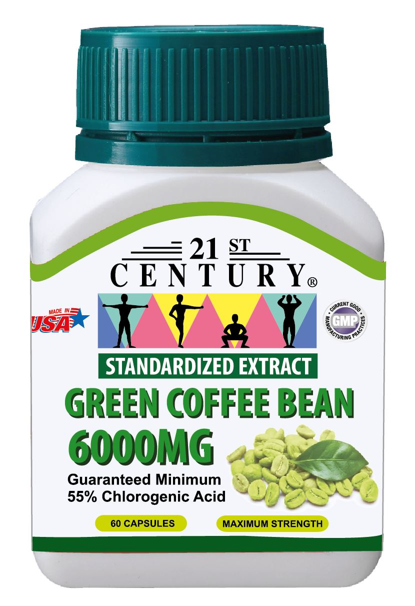 GREEN COFFEE BEAN EXTRACT 6000mg, 60 capsules