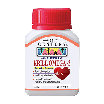 Krill Oil Omega 3 Oil, 400 mg, 60 Softgels