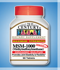 MSM 1000MG, 90 tablets, for Knee Joint Pain Relief