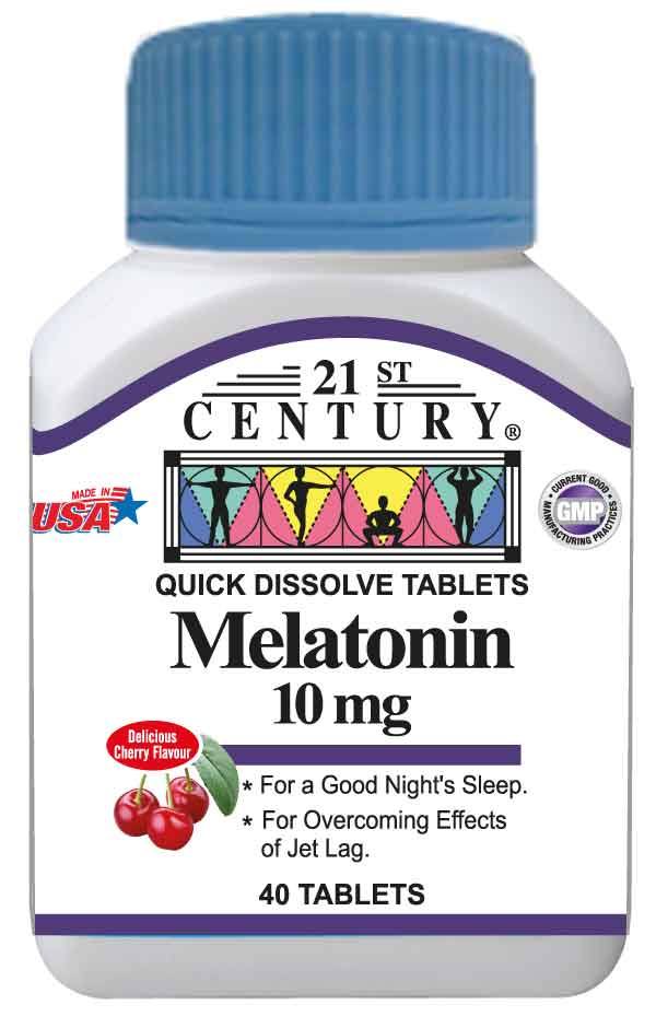 Melatonin 10mg, 40 cherry taste under tongue dissolvable tablets