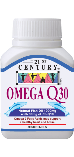 OMEGA Q 30 Omega 3 Fish Oil + CoEnzyme Q10 heart helper