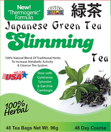 Japanese Green Tea Slimming Tea +Garcinia+Gymnema 48 Tea bags