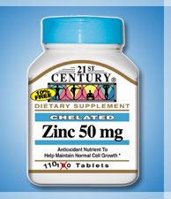 ZINC 50MG with Calcium, 110 tablets